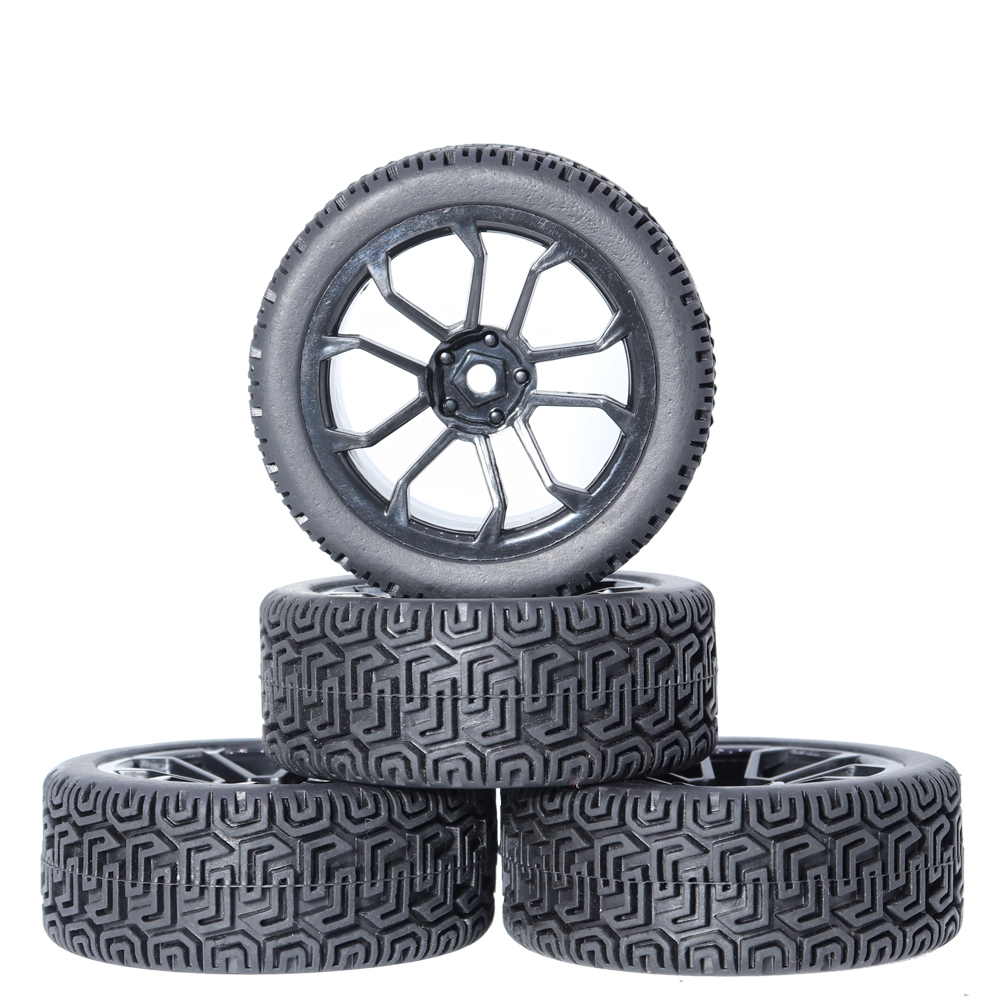 4pcs <font><b>RC</b></font> 1/10 Tires <font><b>Wheels</b></font> hub 12mm Hex for 1:10 HSP HPI Axial Scx10 Traxxas Trx-4 Trx4 Tamiya HPI <font><b>RC</b></font> <font><b>Rally</b></font> On Road <font><b>RC</b></font> Car Tyres image