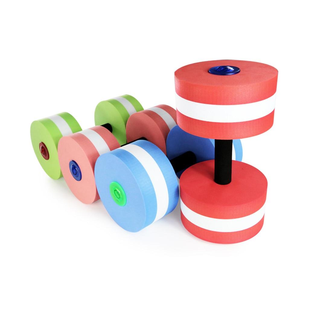 2019 New Arrival 1 Pair Aquatic Fitness Barbells Foam Dumbbells Hand Bar Pool Exercise Detachable mancuerdas deportivas#XB25