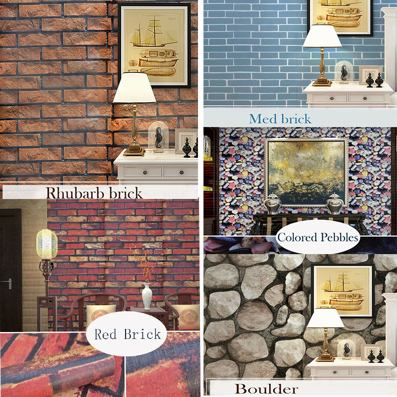 Wallpaper Sticker Home Decor 3D PVC Waterproof Self-Adhesive 45 CM*10 M Rolling Paper Kitchen Bedroom Living Room TV Background