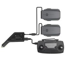 חיצוני כפול סוללה מטען לרכב עבור DJI Mavic פרו עם USB יציאת מרחוק בקר חלקי מהיר טעינה אינטליגנטי