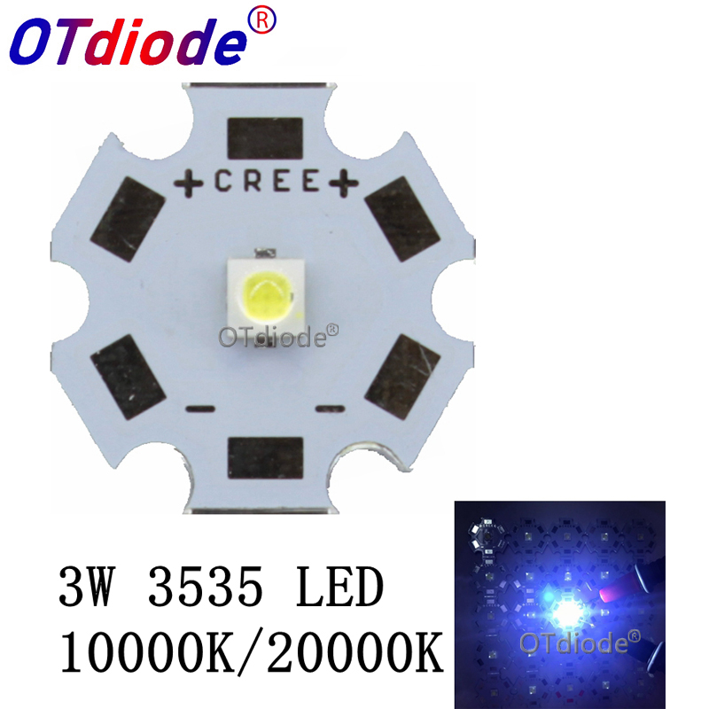 10pcs 1-3W CREE 3535 LED Cold White 10000K 20000K Flashlight Light High Power LED Diode Chip Instead Of CREE XPE XP-E LED