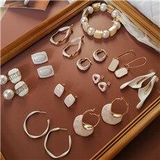 AOMU-2019-White-Drip-Glaze-Geometric-Round-Square-Irregular-Earrings-Fashion-Lily-Enamel-Drop-Earrings-for