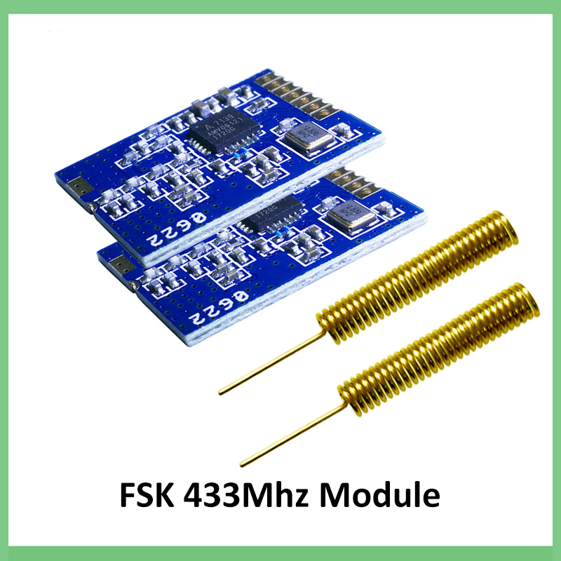2pcs PM7139 Low Power Consumption ISM Frequency Band Wireless Transceiver Chip Support For FSK/GFSK Module + 433MHz Antenna