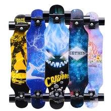 Mini planche à roulettes Longboard complète 31 pouces pour adultes et enfants, plateau plat, en bois dérable, plateau de Skateboard