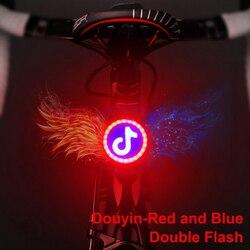 Rear Light Bike USB Charge Flashlight For Bicycle Light Led Bike Flash Taillight Cycling Night Warning Lights Cyling Lamp