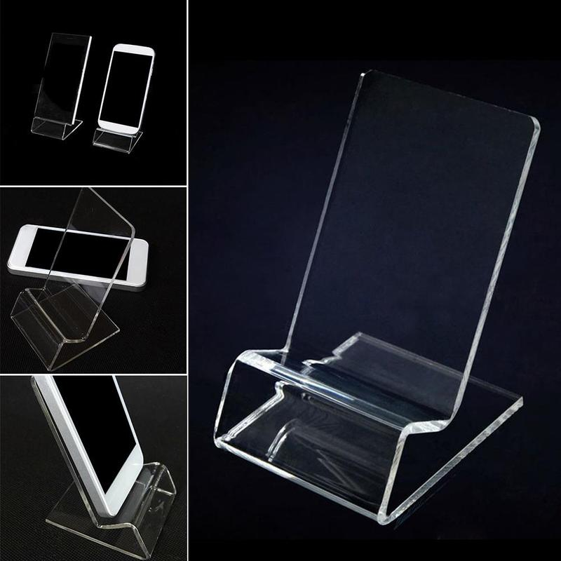 Acrylic Business Card Rack Business Card Clip Display Supplies Stationery Office Bracket Z8V6