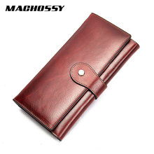 Genuine Leather Women Wallet Departments Female Wal