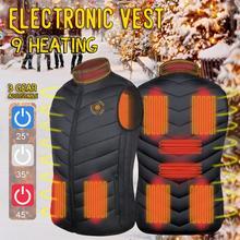 Mężczyźni podgrzewana kamizelka inteligentne ogrzewanie kamizelka bawełniana USB podczerwieni elektryczna kamizelka grzewcza kobiety odkryty elastyczny termiczny zimowy ciepły Jacke tanie tanio CN (pochodzenie) Pasuje mniejszy niż zwykle proszę sprawdzić ten sklep jest dobór informacji heating coat Moc suche