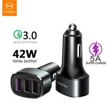 Mcdodo 3 Ports USB 42W Charge rapide 4.0 3.0 USB chargeur de voiture pour Samsung Xiaomi Super rapide 5A SCP pour Huawei voiture chargeur de téléphone