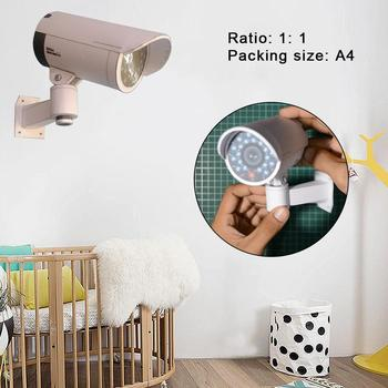 DIY Paper Model Toys 3D Monitoring Camera 1: 1 True Security Craft Simulation Toys Surveillance Gift Camera Paper Ratio For Z5C0 image