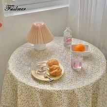 FSISLOVER Vintage ins Daisy mantel de algodón mantel fotografía telones de fondo mesa de comedor Corea Chic mantel para día de campo