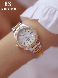 Diamond Watches Dress Crystal Clock Women Stainless-Steel Silver Femme Ladies Montre