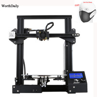 CREALITY 3D Ender 3 Pro 3D Printer Upgraded Magnetic Build Plate Resume Power Failure Printing DIY KIT Mean Well Power Supply