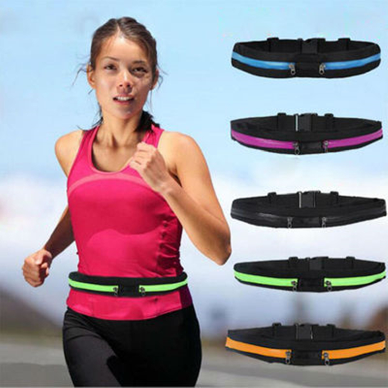 New Outdoor Running Waist Bag Waterproof Mobile Phone Holder Jogging Belt Belly Bag Women Gym Fitness Bag Lady Sport Accessories