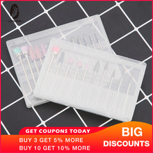 Clear Plastic Nail Drill Bits Storage Box Stand Display 20 Slots 14 Slots Organizer Case Container Professional Manicure Tools(China)