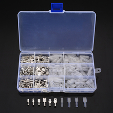 270pcs Male/Female Crimp Spade Terminals Insulated Seal Electrical Wire Connectors Crimp Terminal Connector Assortment Kit