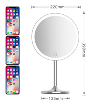 8.5 inch HD Mirrors LED Touch Screen Light Makeup Mirror with 5X Magnifying Smart Sensor Desktop Vanity Mirror For Beauty Makeu