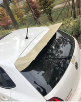 for VW Polo spoiler lip rear trunk wing 2010 2017 year spoiler primer or DIY color car rear wing spoiler