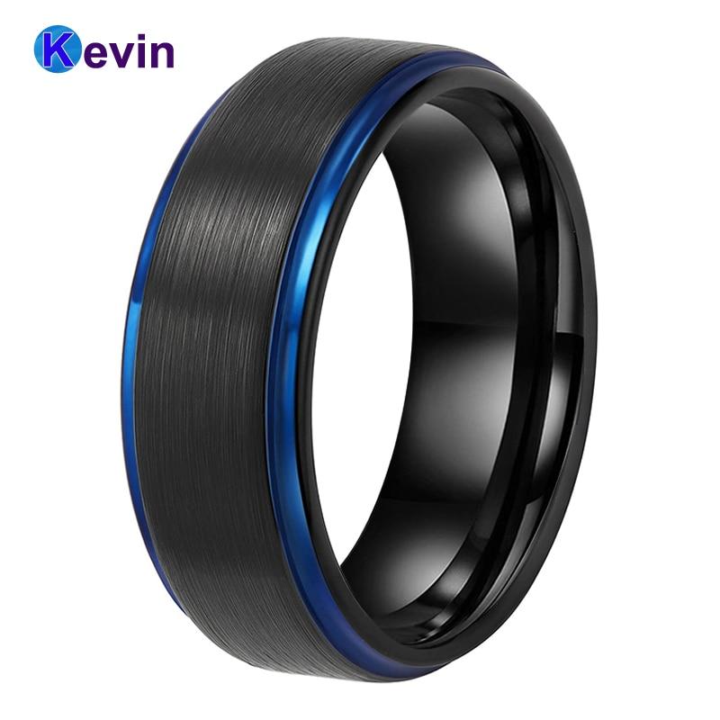 Купить мужские черные вольфрамовые кольца обручальные для женщин с