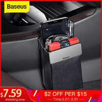 Baseus Magic Car Storage Rack Bag Leather Car Phone Holder Auto Organizer Hanging Pouch Box Car Styling Interior Accessories