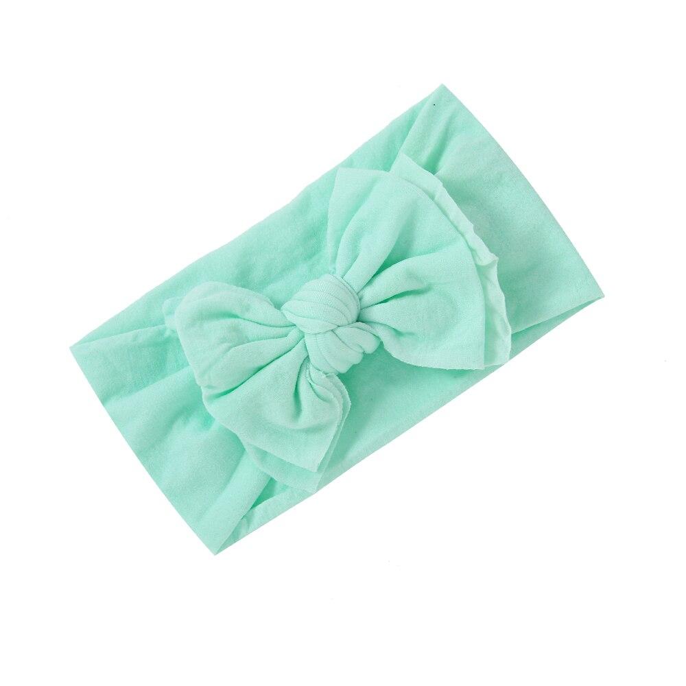 Flower Lotus leaf  Elastic Head Wraps Bowknot Baby Nylon Headband  Turban