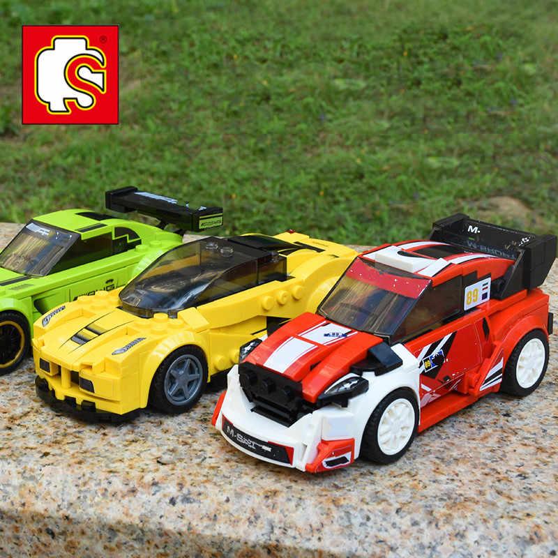 Lepinblock Compatible Champions de vitesse Legoed bloc de construction de voiture de course AMG Racer Technic éclairer les briques jouets de voiture pour les enfants