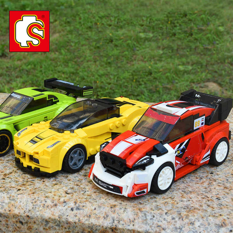 lepinblocks Compatible Legoed Speed Champions Racing Car Building Block AMG Racer Technic Enlighten Bricks Car Toys for Children