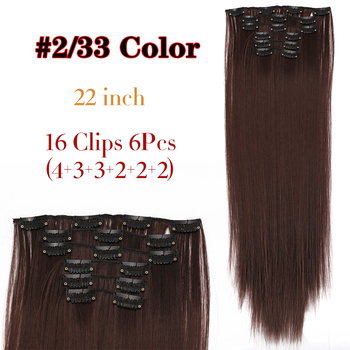 Τρέσα μαλλιών με 16 κλιπ leeons για ίσια μακριά μαλλιά