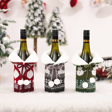 Christmas Wine Bottle Cover Red Wine Beer Champagne Cover Knitting Wool Knitted Sweaters Home Festival Table Decoration New