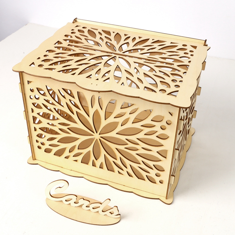 Rustic Wedding Card Box Money Gift Home Decoration for Birthday Party For Guest Supplies