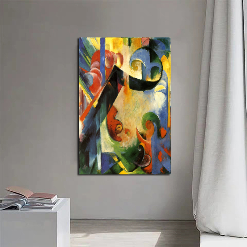 Franz Marc Abstract Artwork Wallpaper Canvas Painting Print Living Room Home Decor Modern Wall Art Oil Painting Poster Pictures image