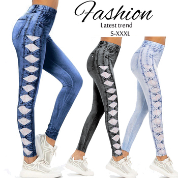 New Fashion Push Up Leggings Women Slim Jeggings Legins Stretch Elastic Pencil Leggings Jeans Denim High Waist Leggings 1