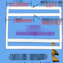 Frete grátis 9.6 polegada tela sensível ao toque para DH-1069A4-PG-FPC264-V1.0 fhx FHF096-001 MJK-0419-FPC MJK-0427-FPC