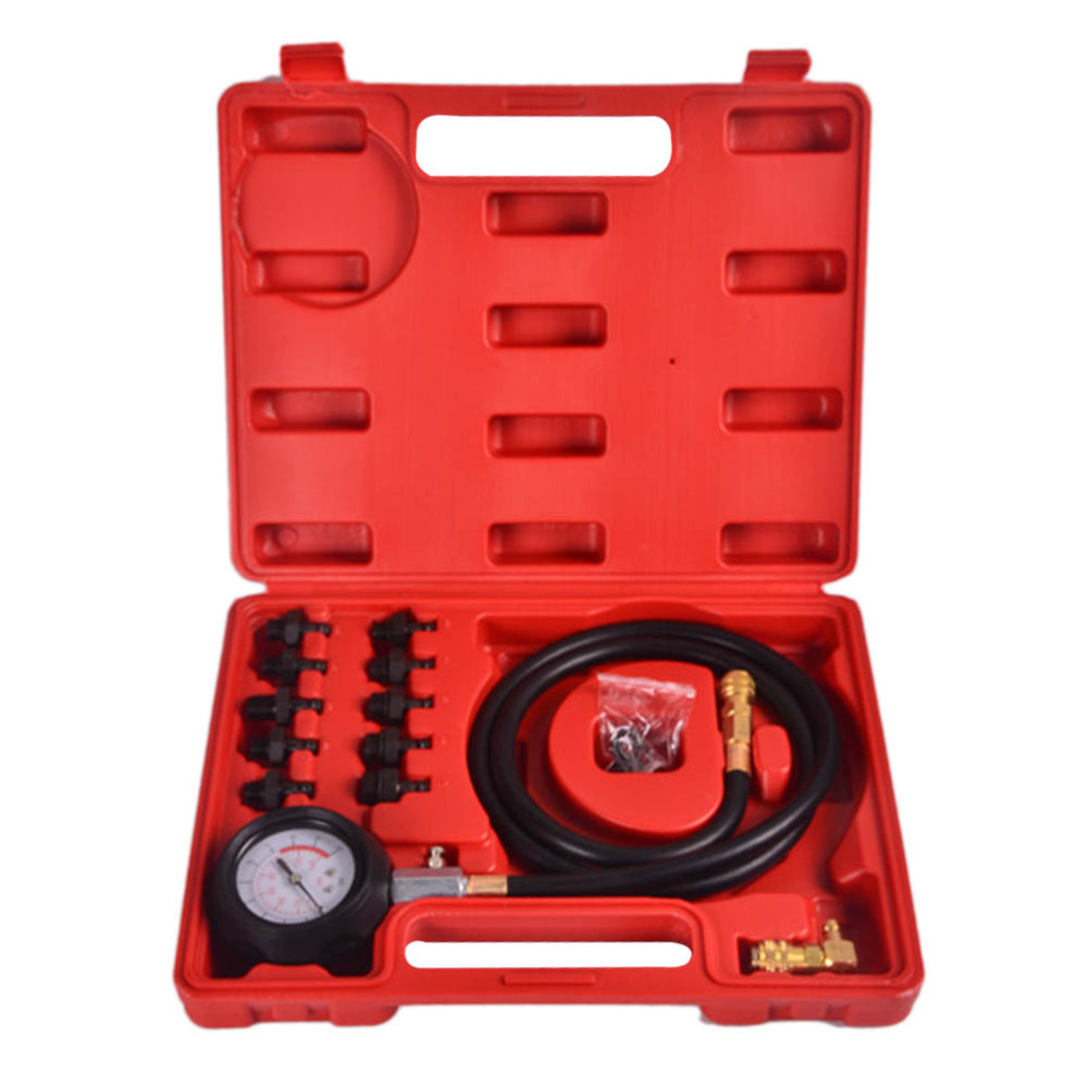 Engine Oil Pressure Diagnostic Tester Tool Set with Case Easy to Read Gauge Scale
