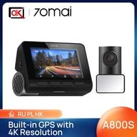 70mai Dash Cam 4K A800S GPS integrato ADAS Ultra HD 70mai 2160P risoluzione 24H parcheggio Monitior DVR anteriore e posteriore SONY IMX415 140FOV