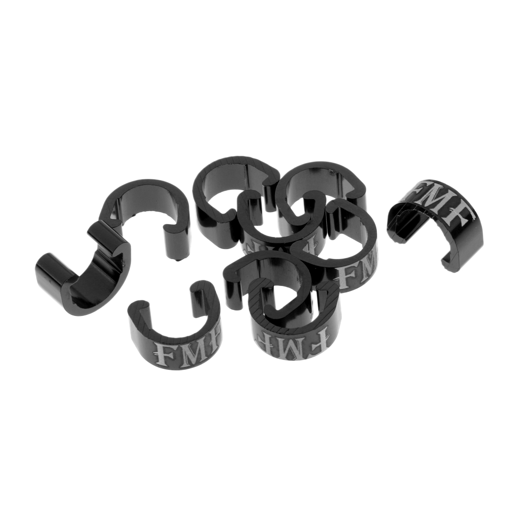 10Pcs Bike Brake Gear Cable C-Clips Housing Hose Guides Hydraulic Line Buckle