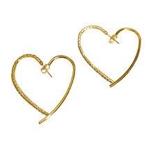 South Korea 2020 new heart-shaped design temperament net red love senior sense earrings Personality fashion simple Trend