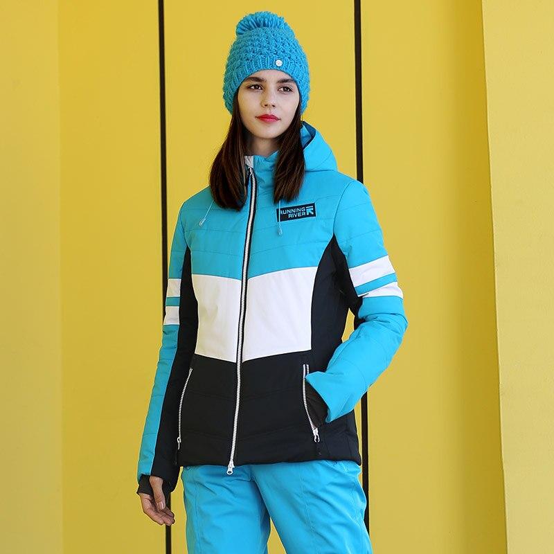 Брендовая женская лыжная куртка с капюшоном RUNNING RIVER, Высококачественная профессиональная спортивная одежда, женские уличные спортивные ку...