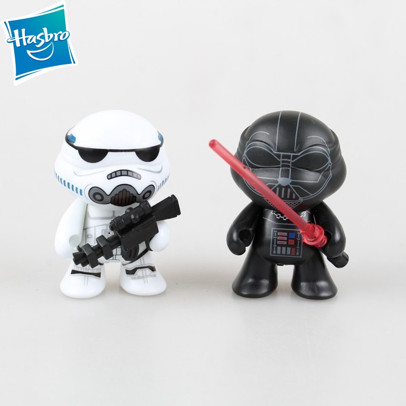 2pcs Turtle Ninja Model COS Star Wars Buildable Figure Stormtrooper Darth Vader Cartoon Q version Action Figure Toy Model image