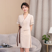 Beauty salon overalls dress short sleeve fashion slim body SPA health beauty technician take nurse