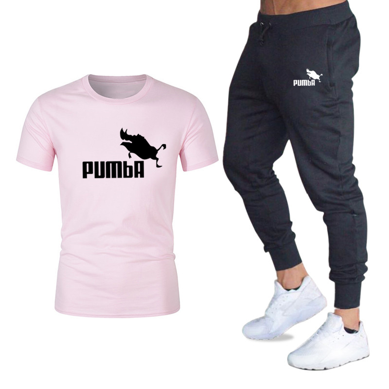 2020 New Style Jogging Pants Men's Short-sleeved Sportswear Basketball Game Fitness Clothing 2 Pieces / Set Of Men's T-shirt Spo