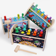 Hammer Pounding Bench Toys Wooden Pounding Bench with Hammer Kids Preschool Toys Educational Toy Fun Games for Kids
