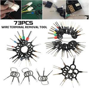Image 1 - 73 Uds Terminal de cable herramienta de eliminación de coche eléctrico pinza de presión para cables Pin Kit de automoción Terminal quitar Accesorios