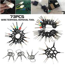 73Pcs Wire Terminal Removal Tool Car Electrical Wiring Crimp Connector Pin Kit Automotive Plug Terminal Remove Accessories
