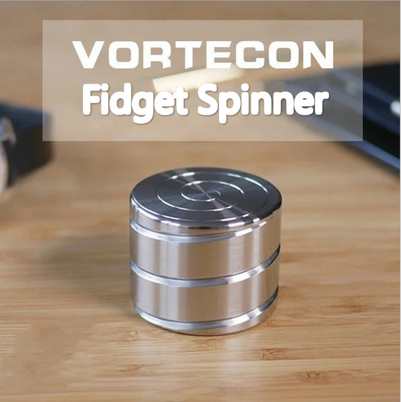 Vortecon Fidget Spinner Desktop Toys Alloy Decompression Hypnosis Rotary Gyro Adult Fingertip Toy Children Toys Gift