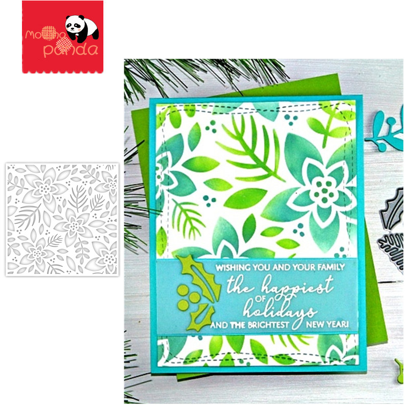WINTER FLORAL  Stamp Stencil Metal Cutting Dies And Stamps For Painting Stencil Template Scrapbooking DIY Crafts Paper