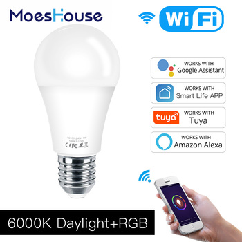 WiFi Smart LED Dimmable Lamp 7W,RGB ,Smart Life Tuya App Remote Control Work with Alexa Echo Google Home,E27 фото