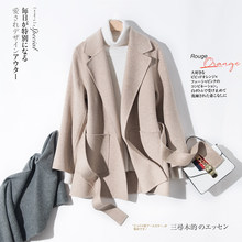 Natural 100% Wool Coat Female Long Cashmere Jacket Women Korean Both Sided Woolen Clothes 2019 Winter Autumn Overcoat 932(China)
