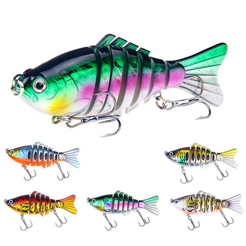 1 PCS 5 colors shiny Fishing Lures In Deep Shallow Water bending Hard Bait Pesca 15.6g 10cm