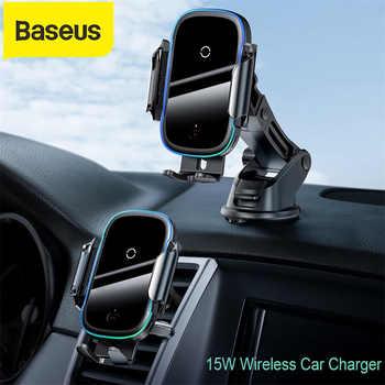 Baseus 15W Qi voiture chargeur sans fil double Mode Intelligent infrarouge rapide sans fil chargeur de voiture pour support pour téléphone de voiture dair